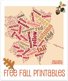 23 FREE Autumn & Fall Download Printables...she has a TON of all year printables for free