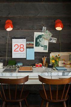 Desktop / via Life and Times office desks, desktop, workspac