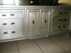 silver leafing and silver paint