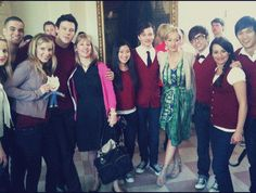 Jo Rowling with Glee cast