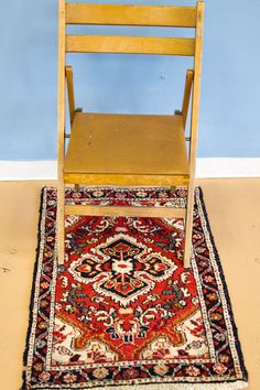 Red Mid Century Persian Scatter Rug