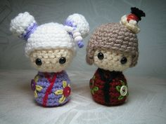 Japanese doll Kokeshi Amigurumi by AmigurumiFriendsStudio, via Flickr