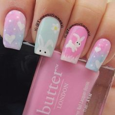Some more Easter Nails for Girls