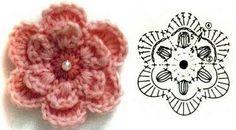Patrones de flores en crochet