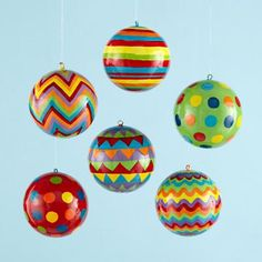wrapping paper ornaments