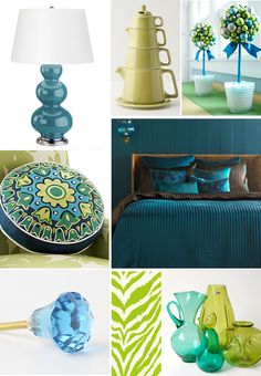 more teal and chartreuse