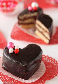 Nutella Pound Cake Petit Fours   SugarHero.com