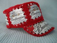 Remember these???? Crocheted beer (or pop) can hats (aluminum)