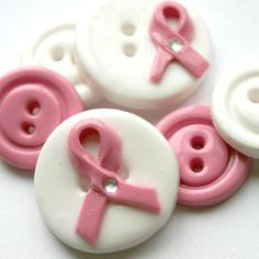 pink ribbon buttons....how can I use these??