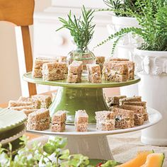 Easy Wedding Shower Ideas | Finger Sandwiches | SouthernLiving.com blue cheese, finger sandwiches, tea sandwiches, fingers, shower food, shower idea, sandwich recipes, bridal showers, parti
