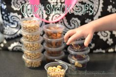"""These quick snack cups are FUN and fast - perfect for kids who are """"on the go""""!!   http://adventuresofacouponista.com/?p=44314"""