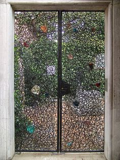 Gate to Peggy Guggenheim Collection in Venice by Detlef Schobert, via Flickr