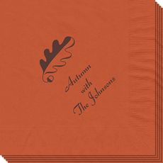 Acorn Leaf Napkins #StationeryStudio