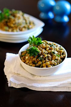 Lebanese Warm Lentils from If Looks Could Kale #MeatlessMonday #WeightWatchers