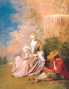 Jean-Antoine Watteau:The Anxious Lover 1719