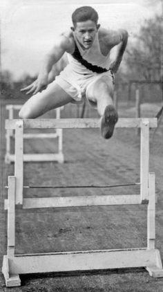 Dan Kinsey 1924 Paris, Gold Medal, 110 Meter Hurdles (Ray's Uncle!)