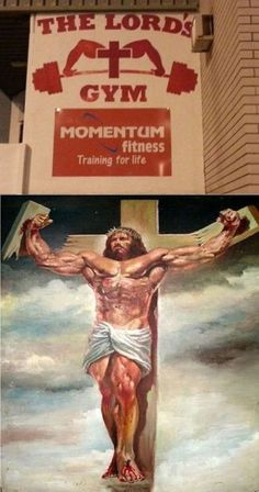"""The Lord's Gym""    Images of Jesus...which do you connect with?"