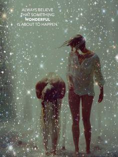 always believe showers, magic, friends, dream, star, glitter girl, inspir, quot, rain
