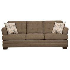 Simmons® Velocity Shitake Sofa With Gigi Pillows at Big Lots.