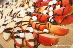 Chocolate Caramel Apple Nachos