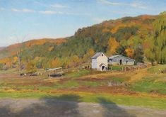 Wilbur Returns (oil, 28×40) by Joe Paquet, featured in The Artist's Magazine (October 2012) #LandscapePainting #Farm #Fall