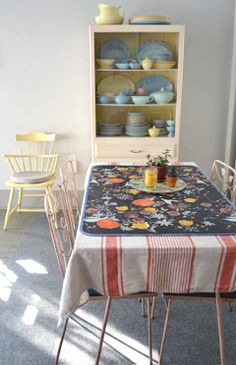 DIY Easy Sewing - Oilcloth Table Runner