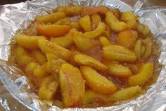 Just made peach pie filling for the freezer. Filling frozen in a pie tin. All I have to do over the winter is plop the frozen filling in a pie shell and bake! How great is that!