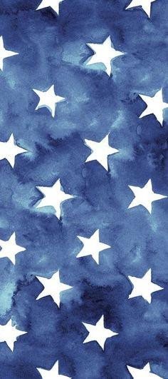 ❥ freedom stars ..... watercolor