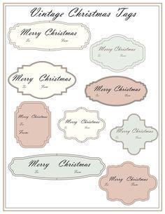 Vintage Printable Christmas Tags. $2.25, via Etsy.