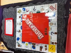 Homeworkopoly game #bulletin board #classroom decor