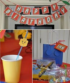 lego themed birthday parties, party themes, lego parti, party stuff, lego birthday, parti idea, six sisters stuff, birthday ideas, themed parties