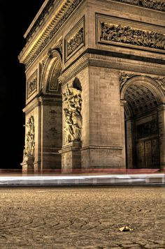 A Leaf at the Feet of the Arc de Triomphe