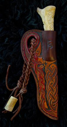 Norse and Viking Leather Art Bone Jewelry and Drinking Horns by Wodenswolf: Antler