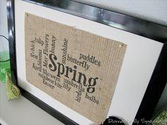 Spring Subway Burlap Sign