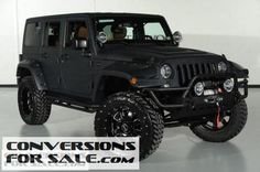 2014 Jeep Wrangler Unlimited Kevlar Coated Custom Leather Lifted Jeep