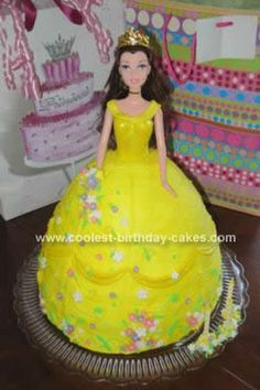 Homemade Belle Birthday Cake: My little princess requested her favourite princess for her 3rd birthday cake.  So after lots of research (thanks coolest-birthday-cakes.com !!!) I was