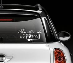 Harry Potter Window Decal... I'm a nerd but I love this