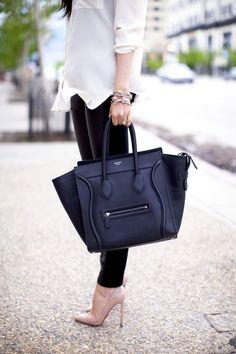 Celine dream purse and louboutins.