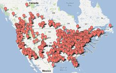 Map of Boondocking Listings