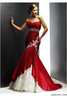 red wedding dress?