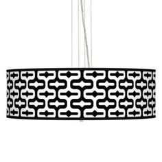 Love this graphic shade; perfect for over your dining or breakfast table. #EU17276-2R539