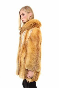 Crystal Red Fox Fur Coat S
