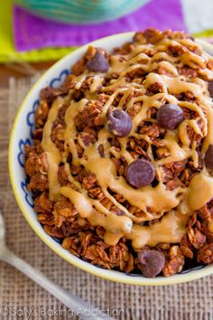 Chocolate Peanut Butter Lovers' Granola - an easy, healthy snack for those of us with a sweet tooth!