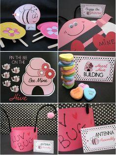 Bird's Party Blog: School Classroom Valentine's Party: Bee My Valentine bug hat, school classrooms, bee, valentin parti, luv bug, kid