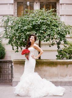 Gorgeous mermaid style wedding dress: http://www.stylemepretty.com/little-black-book-blog/2013/12/31/cipriani-wedding/ | Photography: Heather Waraksa - http://heatherwaraksa.com/