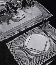 Placemats & Runner Number 7709 Pattern