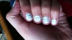 My Newspaper Nails!!