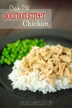 Crock Pot Bourbon Street Chicken | CupcakeDiariesBlog.com