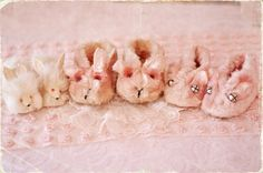 vintage bunny slippers