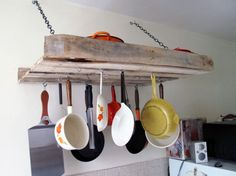 DIY country kitchen shelves | ... like its straight out of Free Cabin Porn . (via A Greenpoint Kitchen